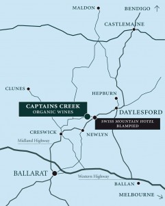 Captains Creek Location Map